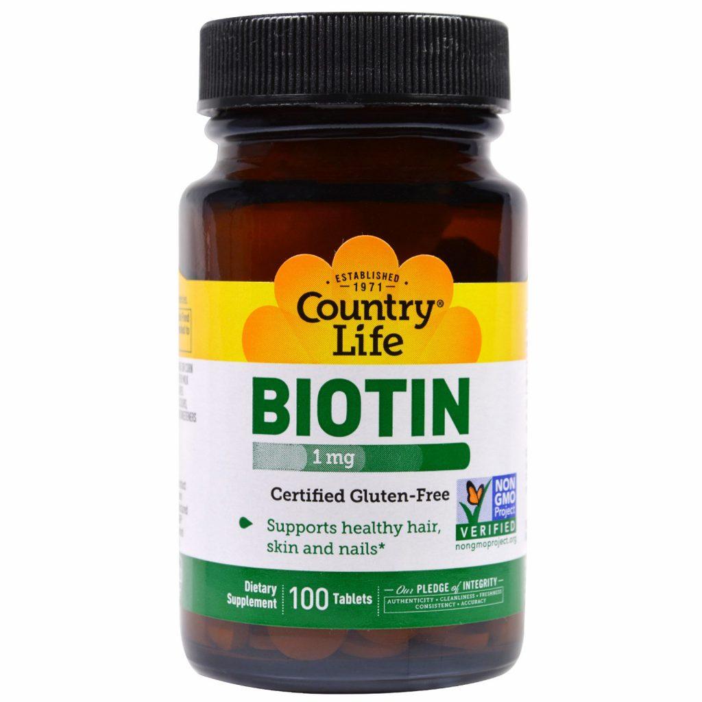 biotin 6000 و country life biotin