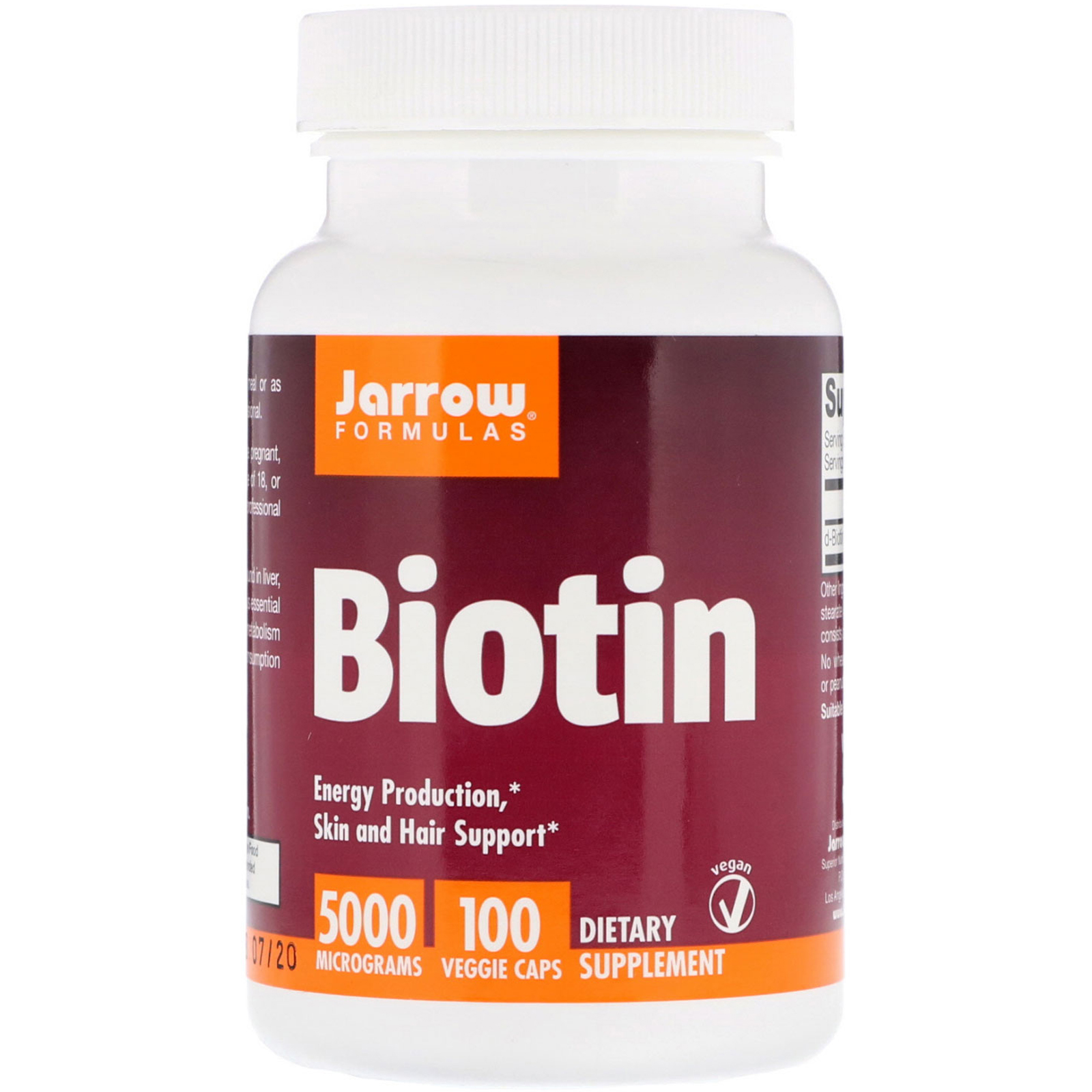 mason natural biotin وjarrow formulas biotin